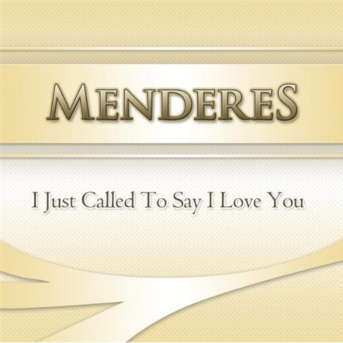"Menderes ""I just called to say I love You"" produziert von Vocal-Booth.de"